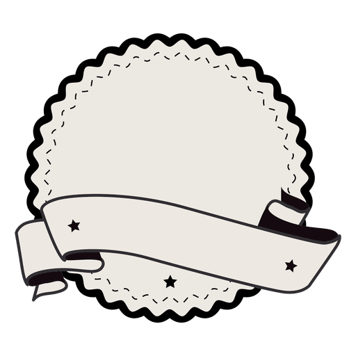 Vintage badge png. Label ribbon with two