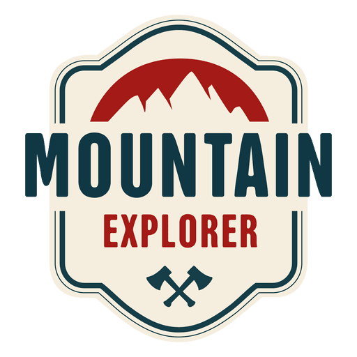 Vintage badge png. Mountain explorer transparent svg