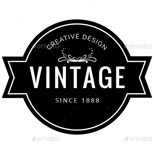 Vintage badge template png. Style badges designs by