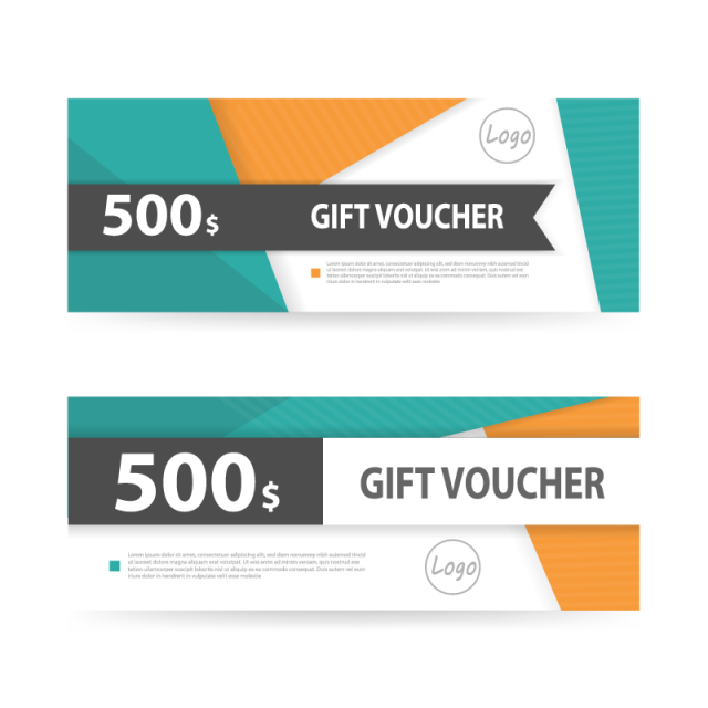 Coupon layout png. Vale regalo cupon template