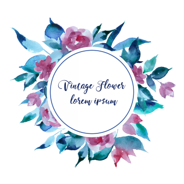 Flowers vectors psd and. Vintage flower vector png banner library download