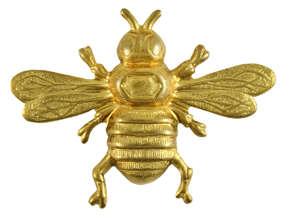 bees transparent gold