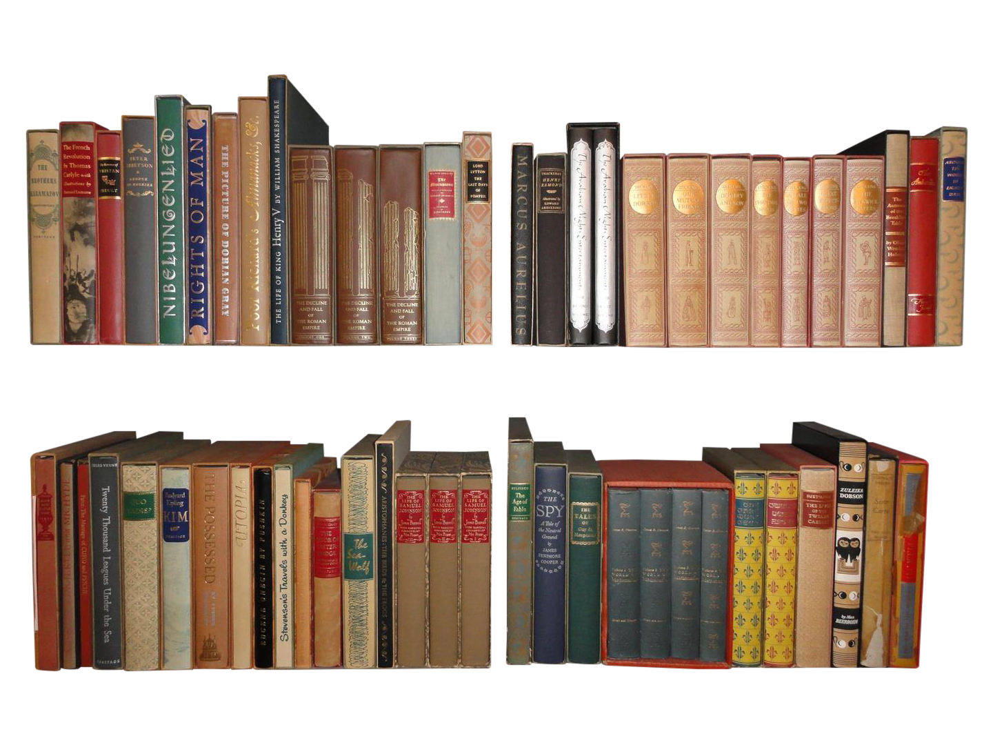 Vintage books png. Heritage press collection of
