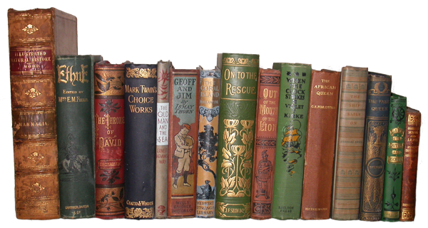 Vintage books png. Book collecting a celebration
