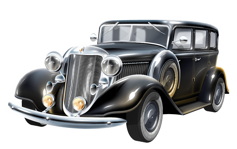 Vintage car png. How to fit an