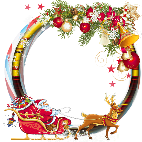 Vintage christmas frame png. Round transparent photo with
