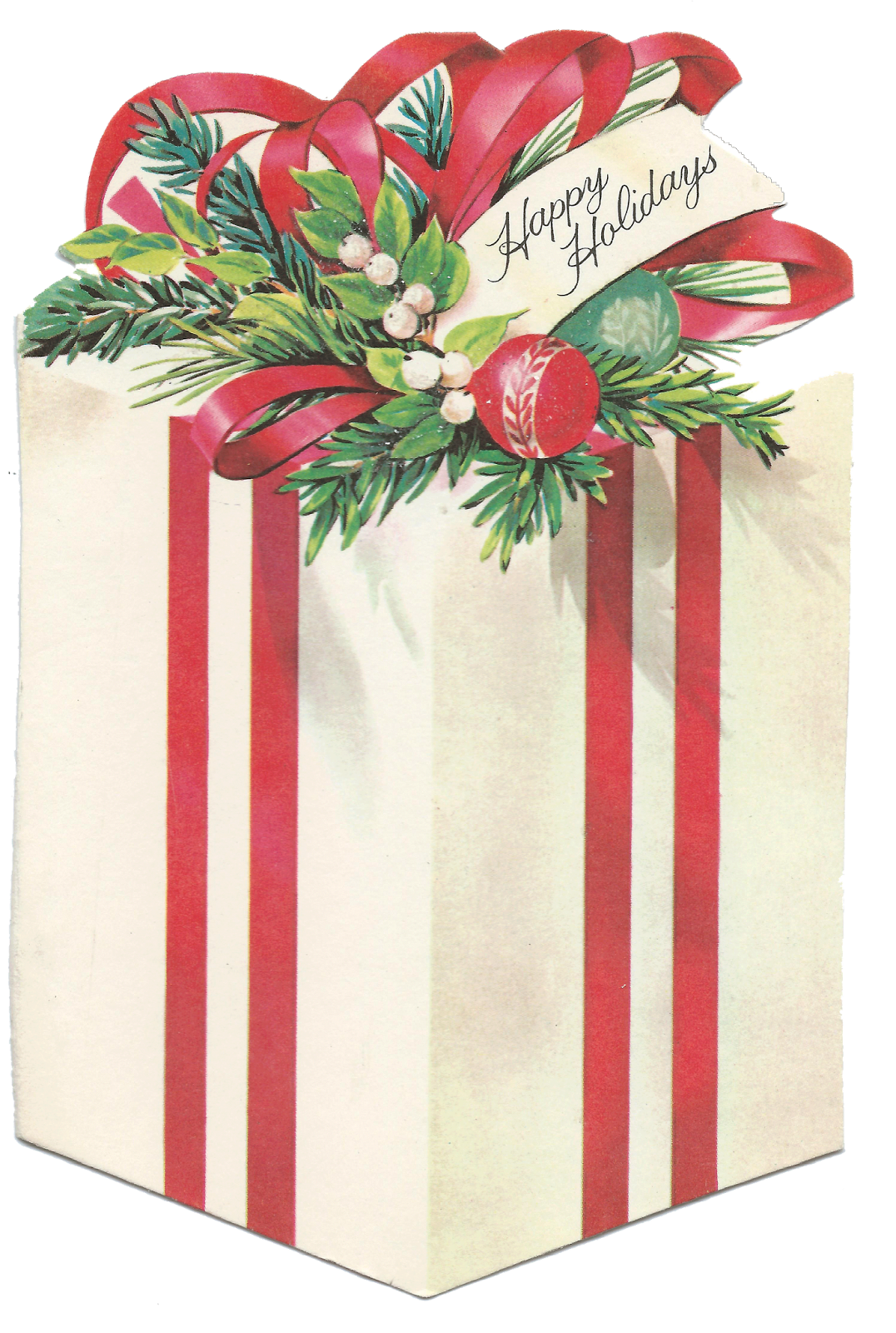 Vintage christmas presents png. Collection of present