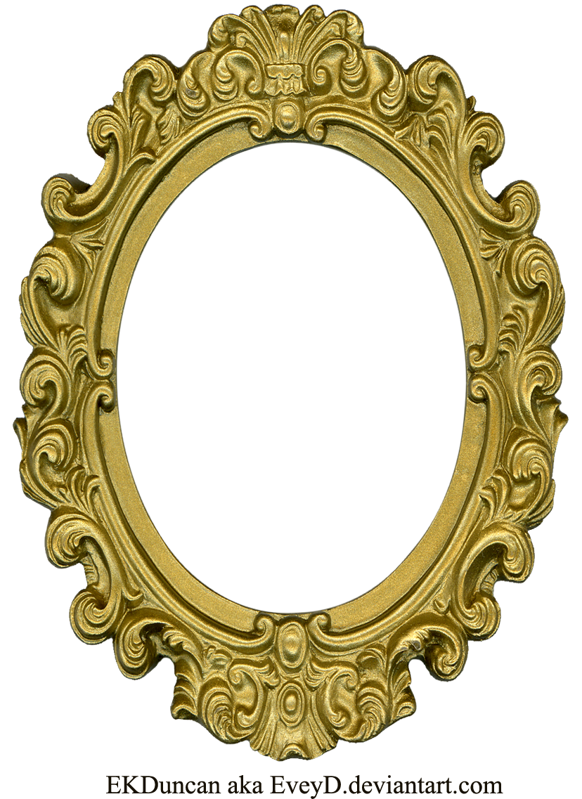 Gold oval frame png. Mirror drawing at getdrawings