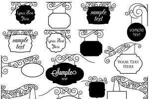 Vintage clipart sign. Signs vectors and illustrations