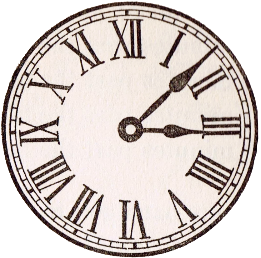 Vintage clock png. Antique face graphics from