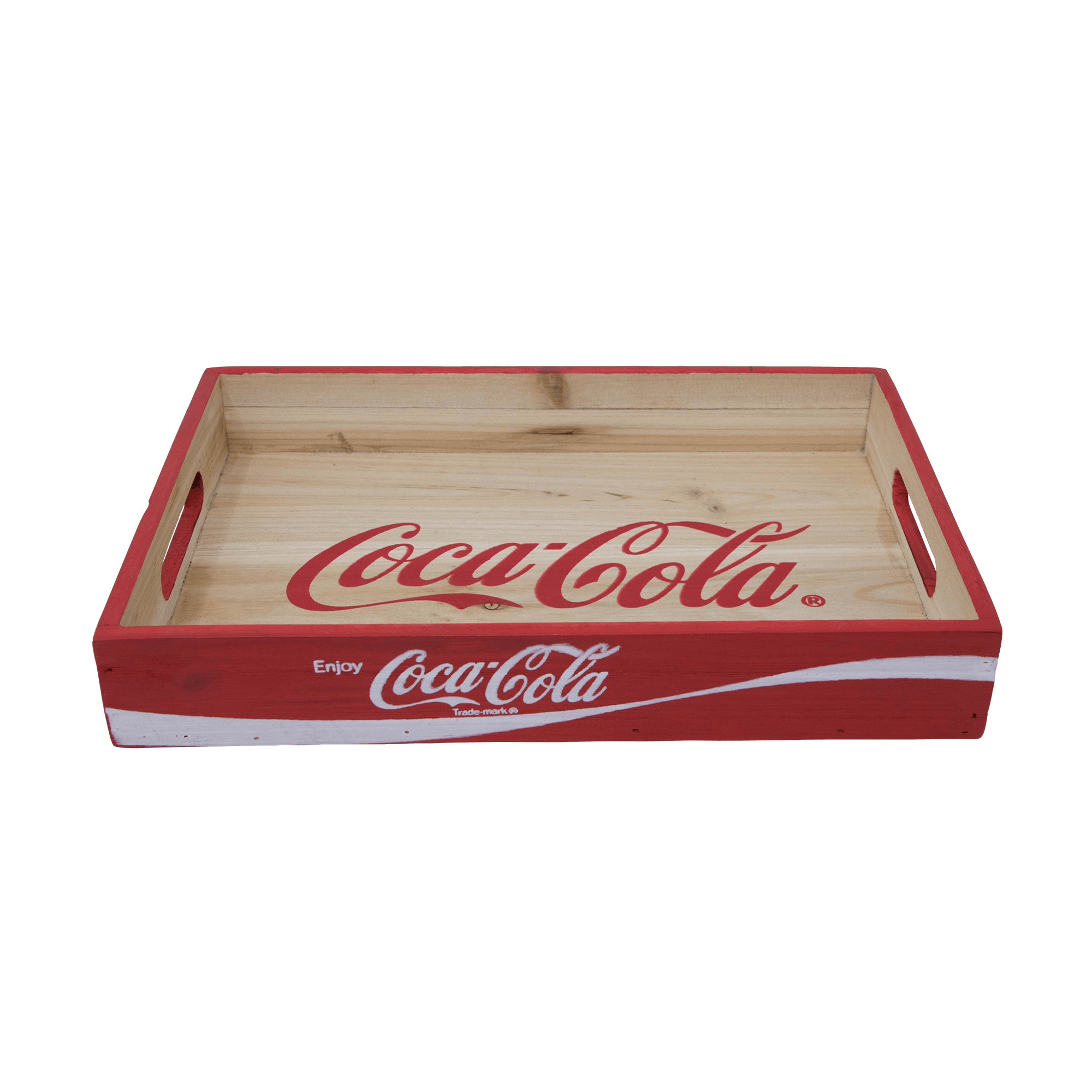 Vintage coca cola crate png. Wood tray coke store