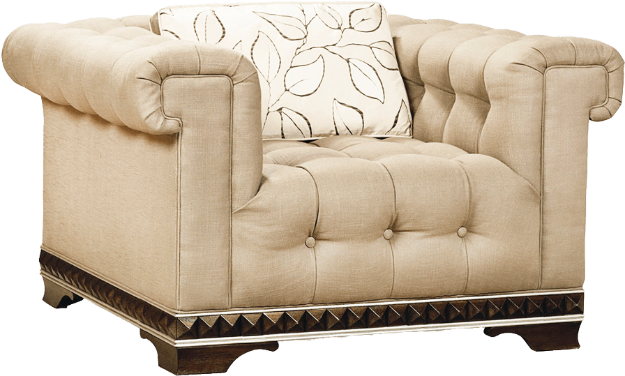 Vintage couch png. Download armchair sideview image