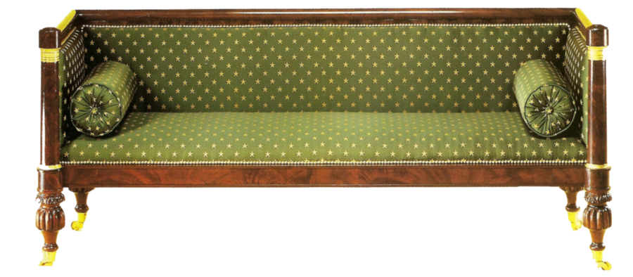 Vintage couch png. Green by jinifur on