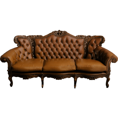 Vintage couch png. Large sofa transparent stickpng