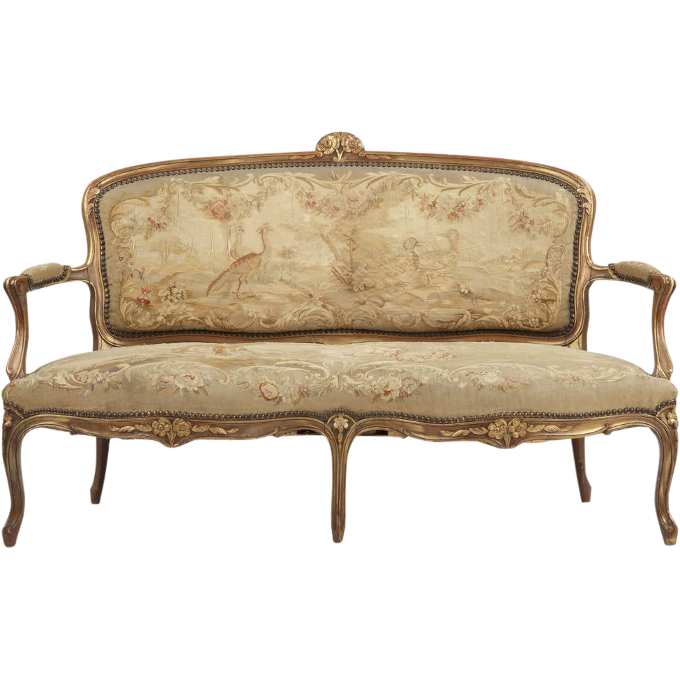 Vintage couch png. Rubylanecom french louis xv