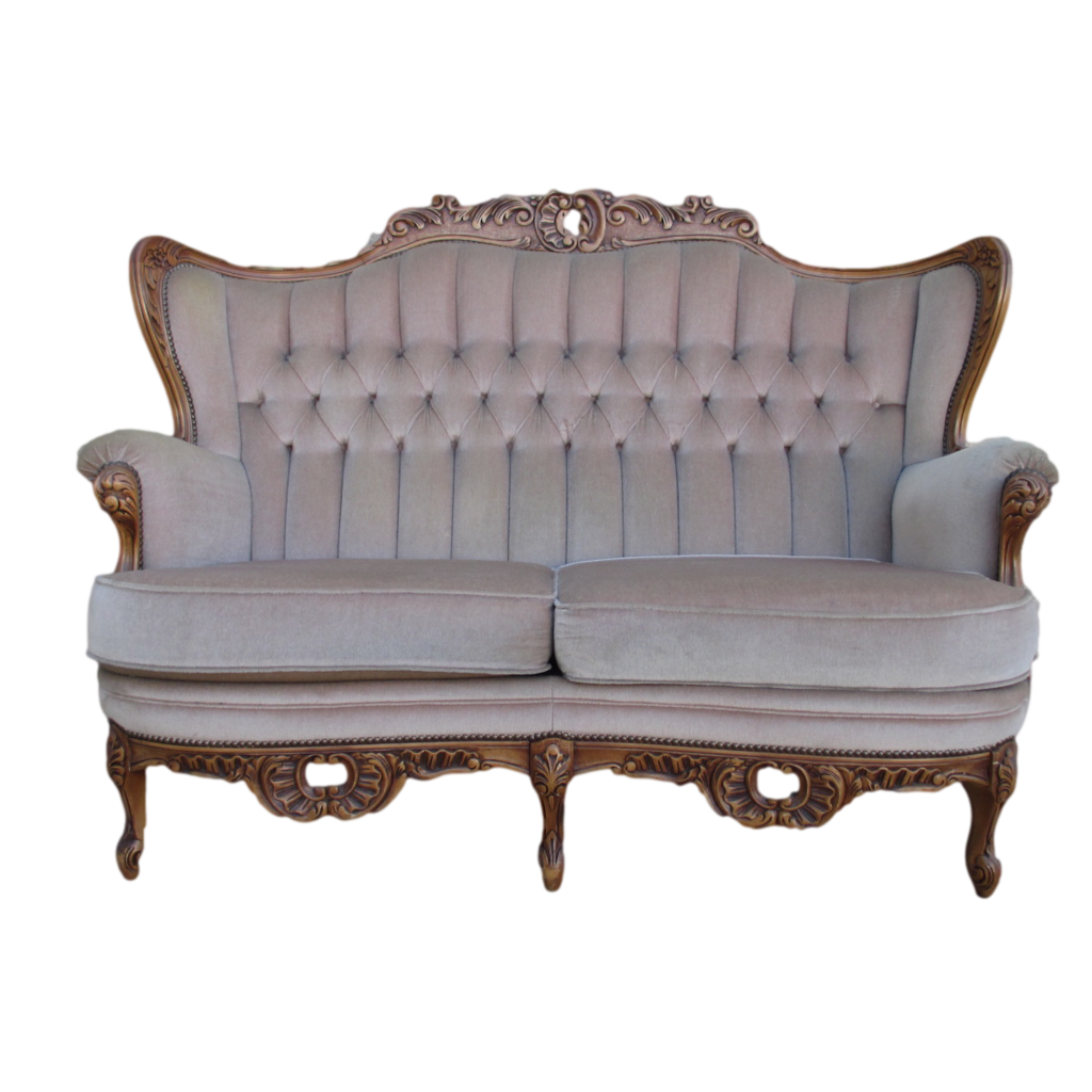 Vintage couch png. Unique style sofa for