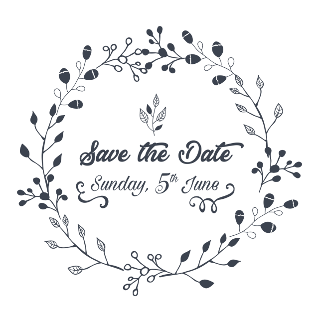 Wedding Invitation Save The Date Illustration