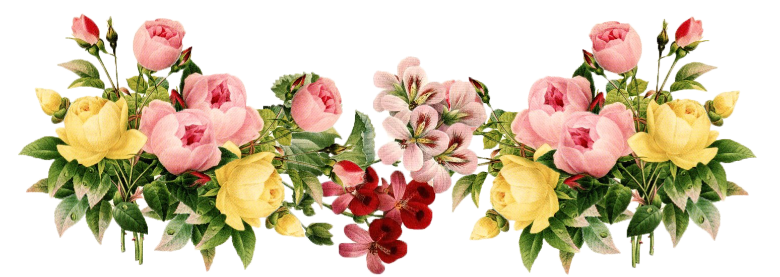Bouquet png tumblr. Free flower border download