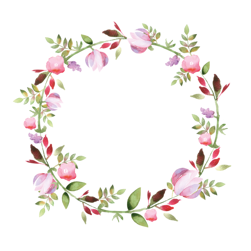 watercolor wreaths and. Vintage flower frame vector png clipart freeuse stock