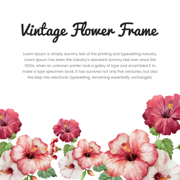 Flowers vectors psd and. Vintage flower vector png picture