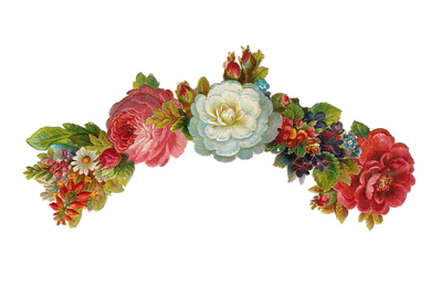Vintage flowers bouquet png. Free digital images gif