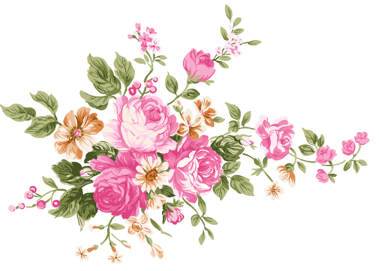 Vintage bouquet of stickpng. Flowers transparent png clip art library library