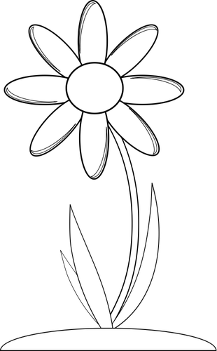Vintage flowers vector png. Graphics of long stem
