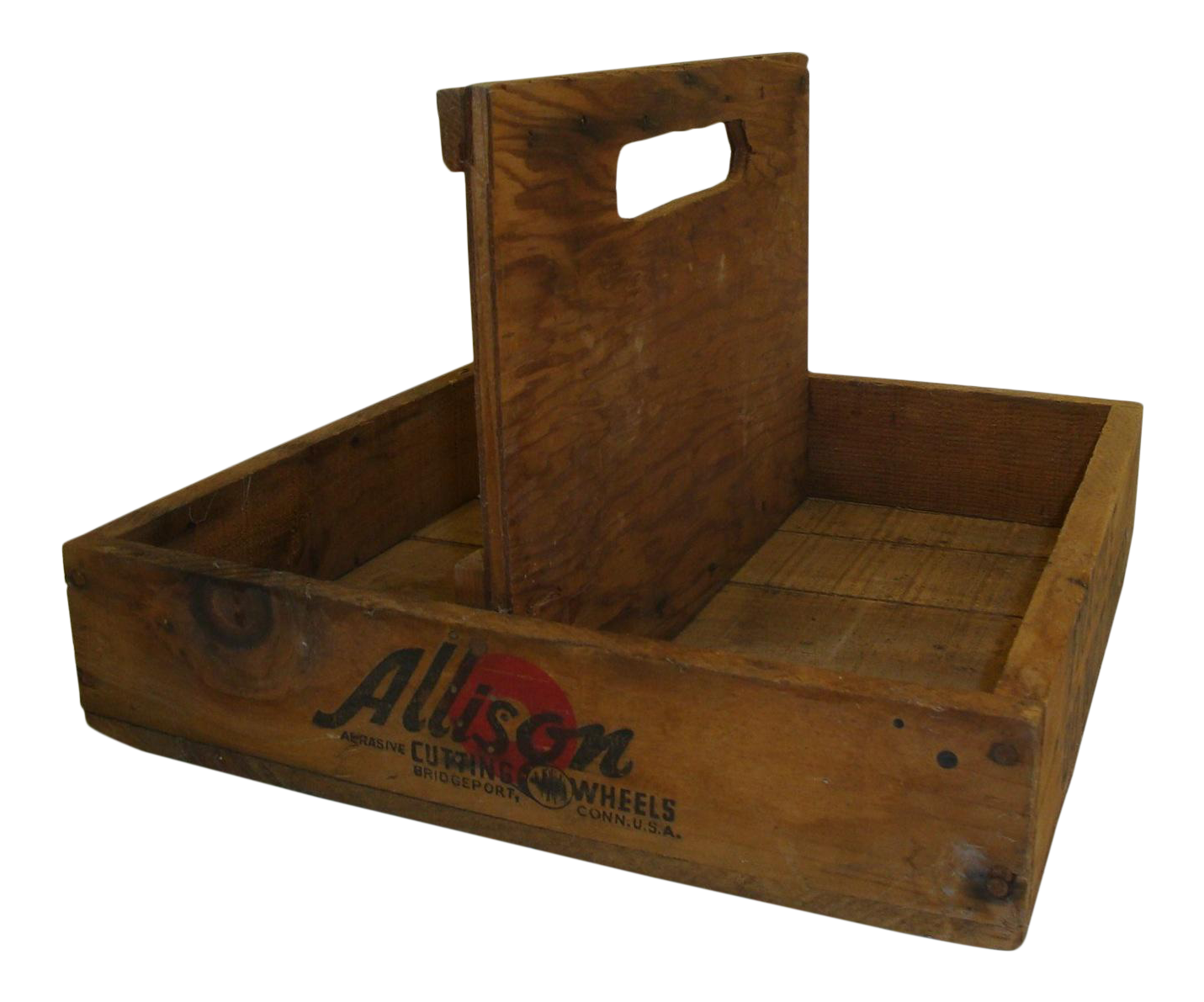 Vintage garden crate png. Rustic tool wooden caddy