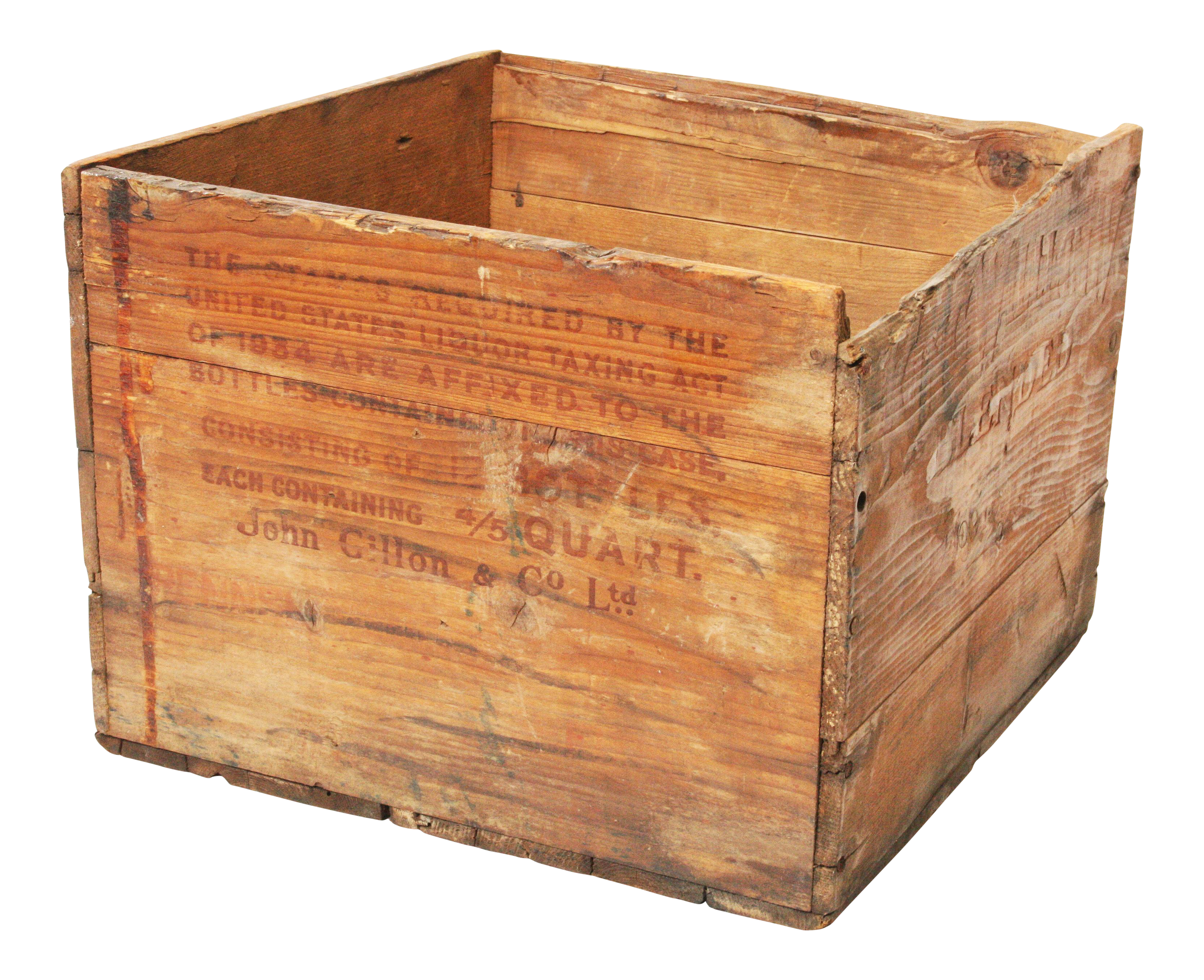 Vintage garden crate png. Scotch whiskey wood shipping