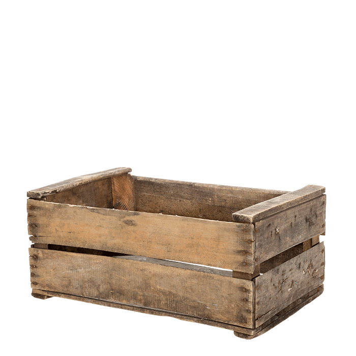 Vintage garden crate png. Hire wooden options x