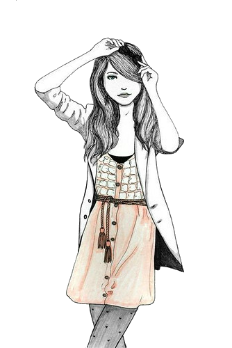 fashionista drawing