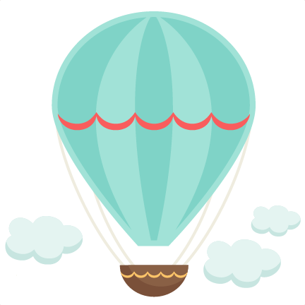 Vintage hot air balloon png. Svg cutting file for