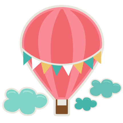 Hot vector file. Air balloon svg cutting