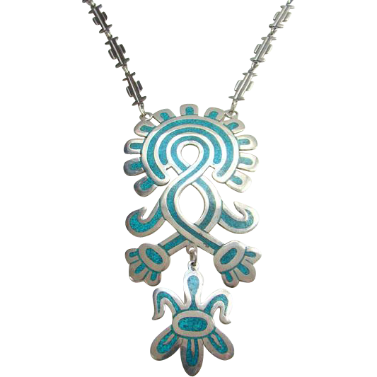 Vintage jewelry png. Taxco mexico mexican cdl