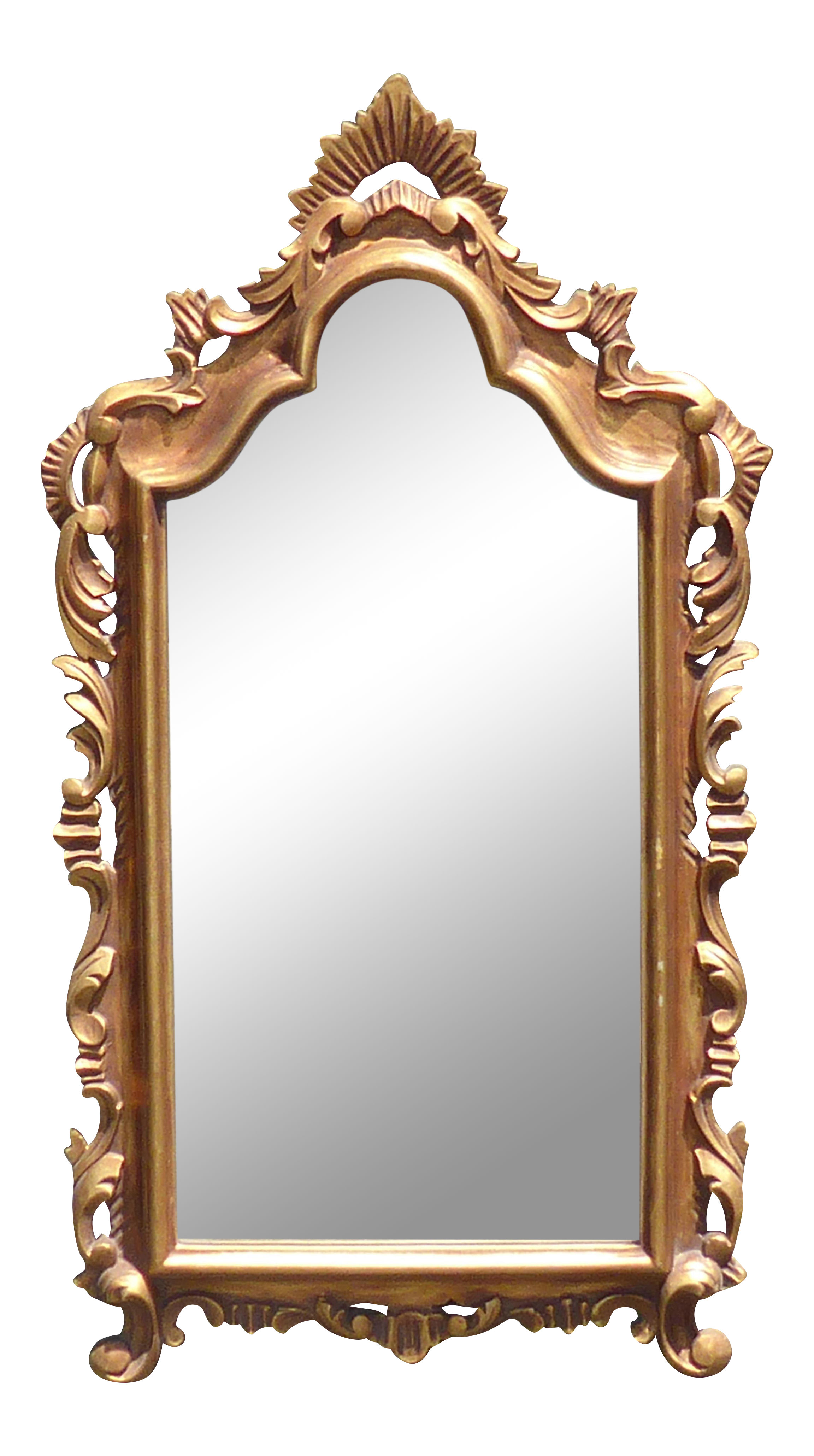 Vintage mirror png. French provincial style gold