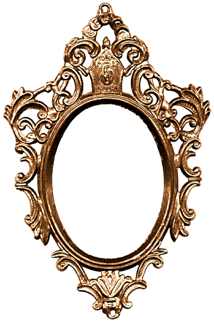 Vintage mirror png. On the wall by
