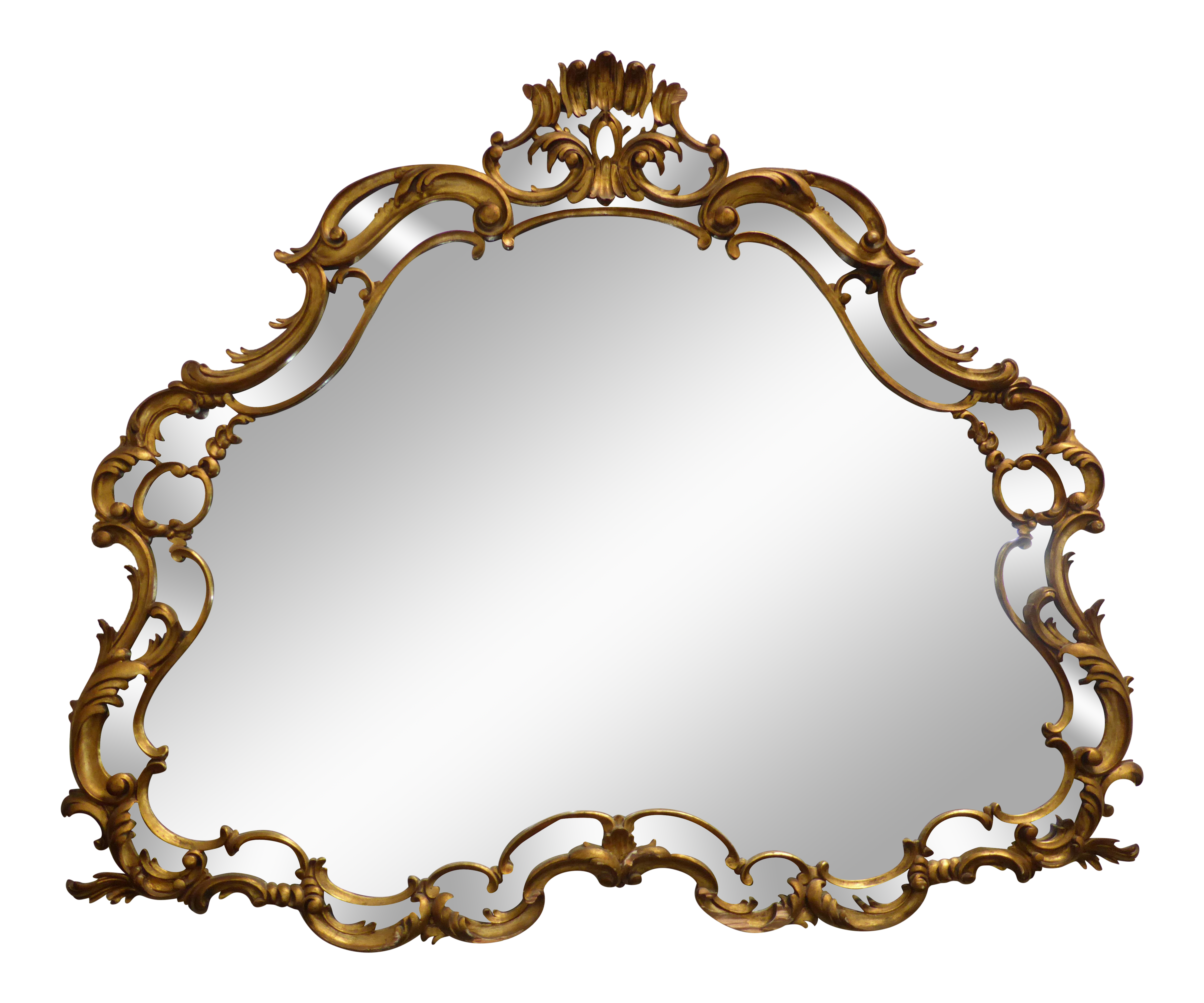 Vintage mirror png. X large french