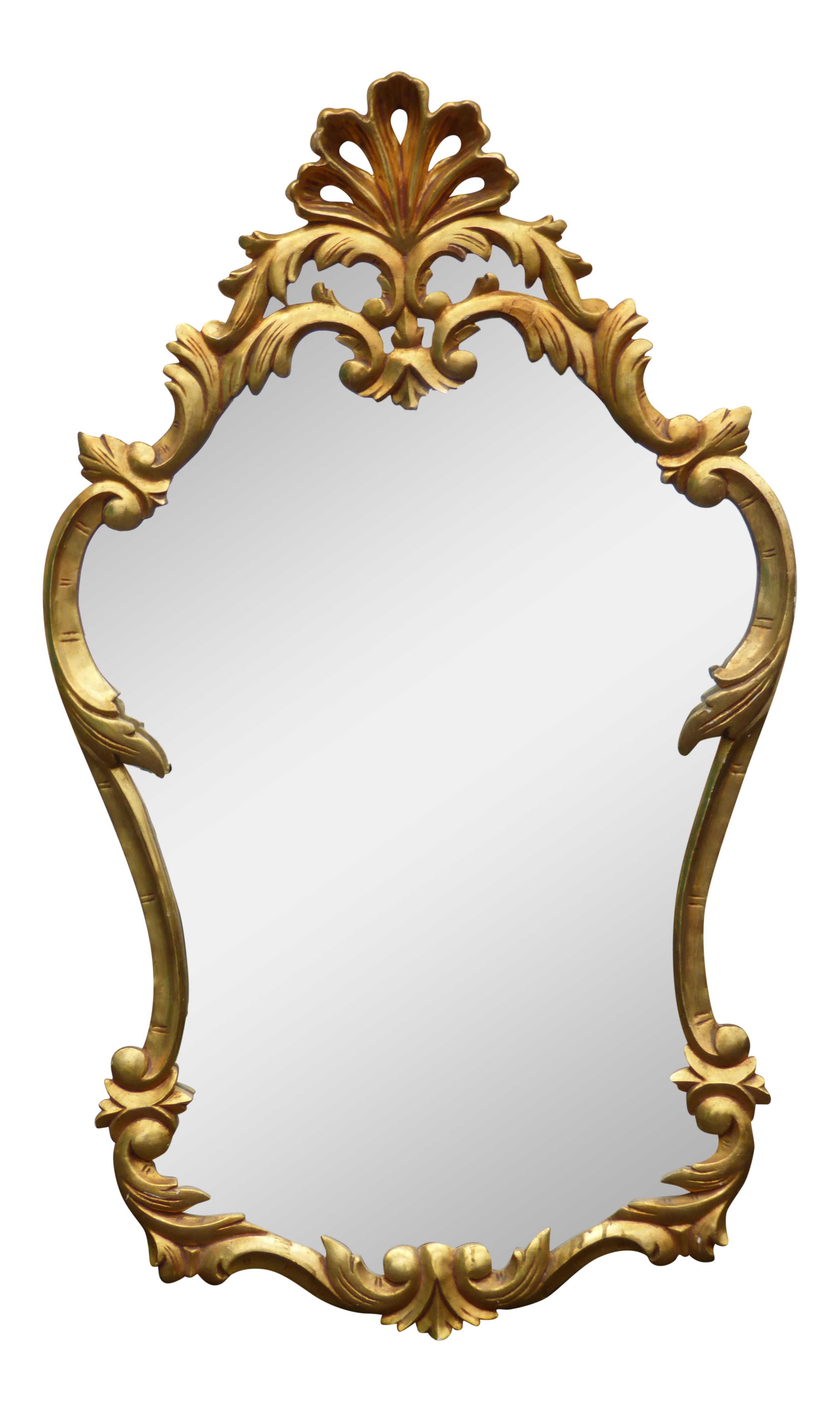 Vintage mirror png. Rococo french provincial gilt