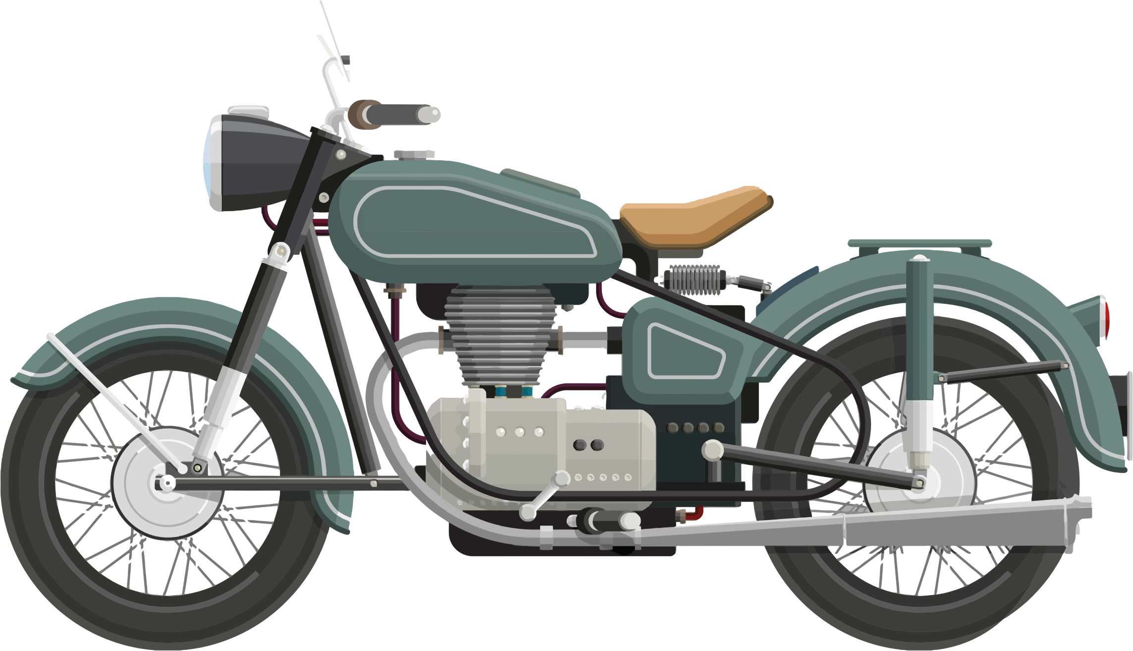 Vintage motorcycle png. Classic clipart download free