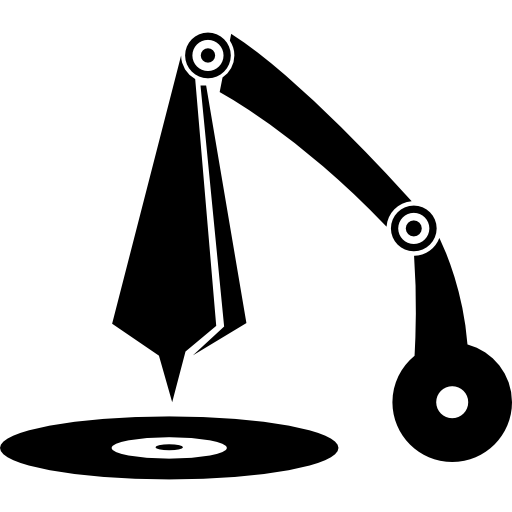 Vintage musical notes png. Music disc audio sound