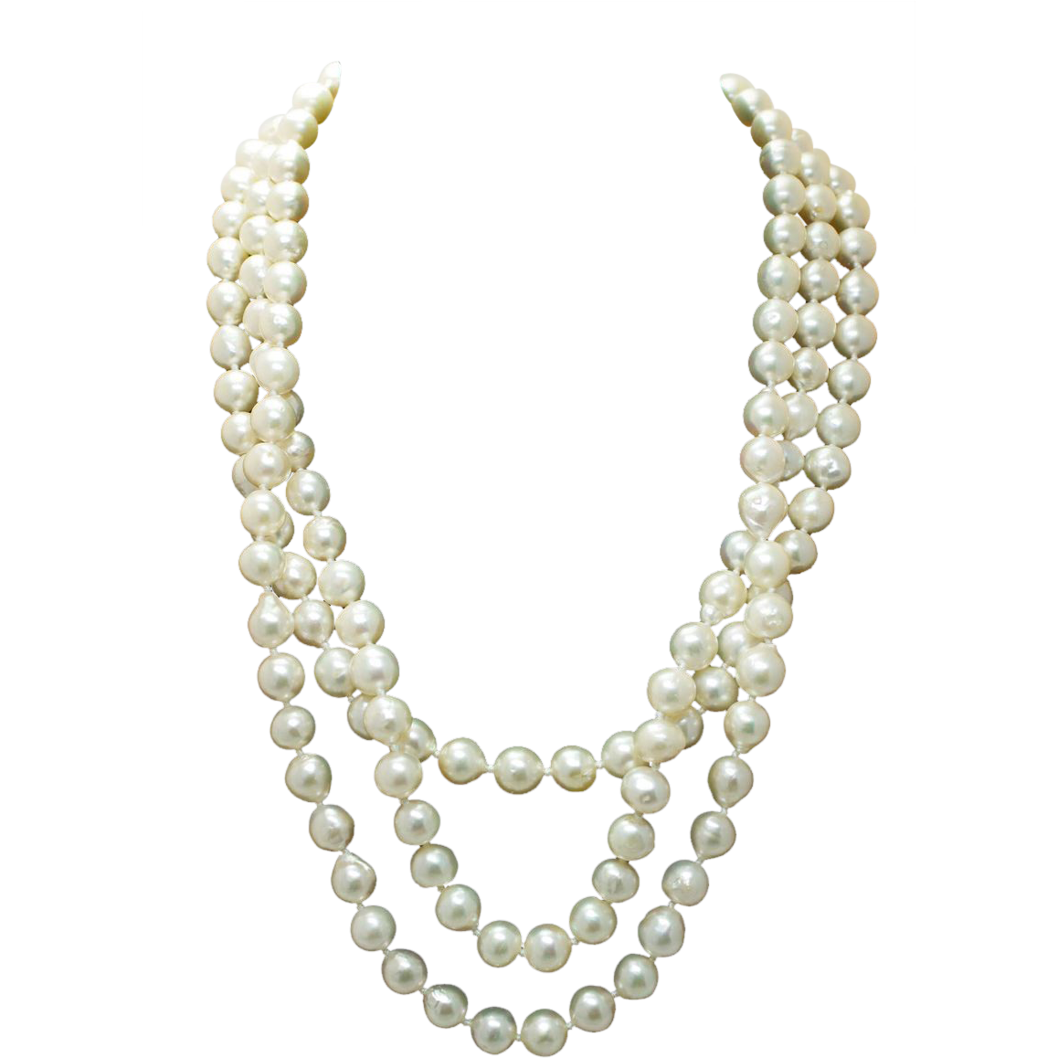 Transparent pearls. Best jewelry no background