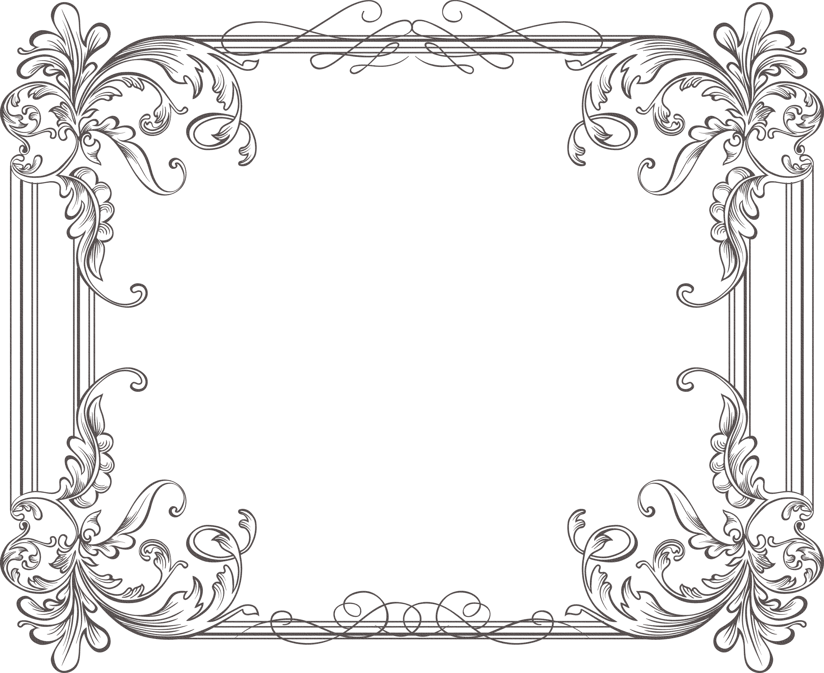 Vintage ornaments frame branches png transparent background outline. Pin by mary barnes