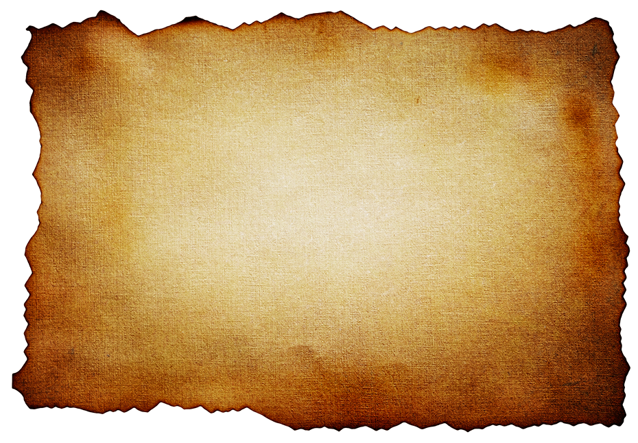 Vintage paper background png. Old burned texture photohdx