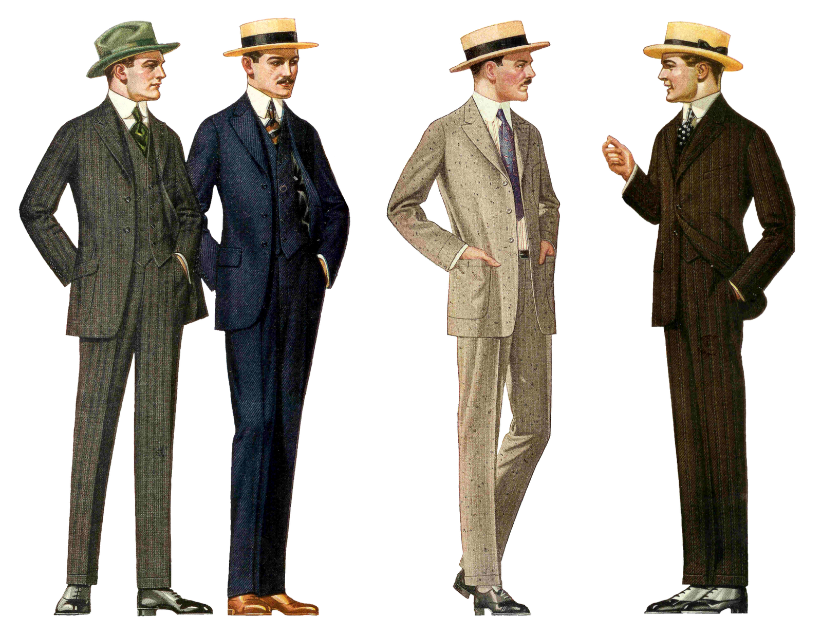 Vintage people png. Pants are not baggy