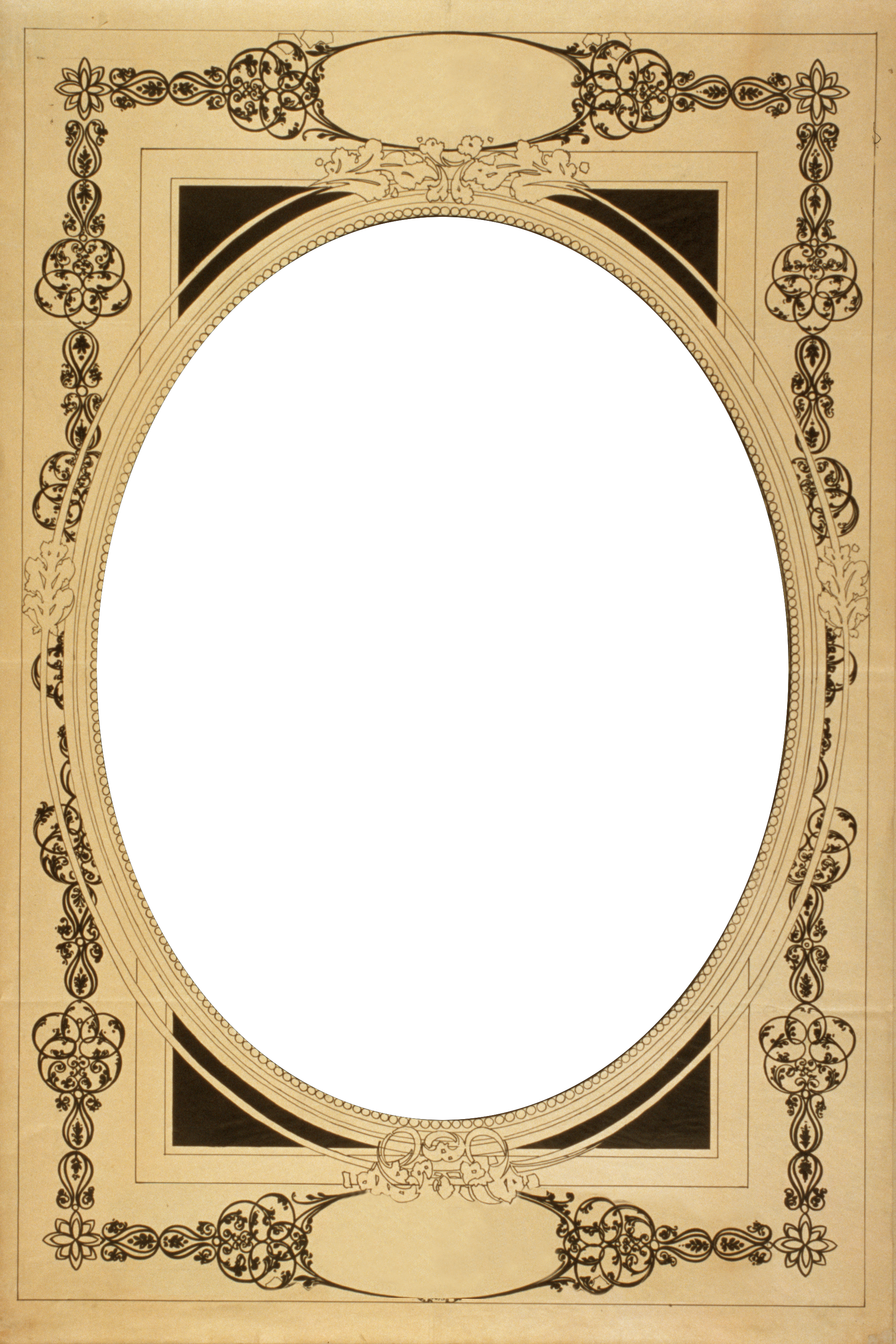 Vintage photo border png. X transparent frame