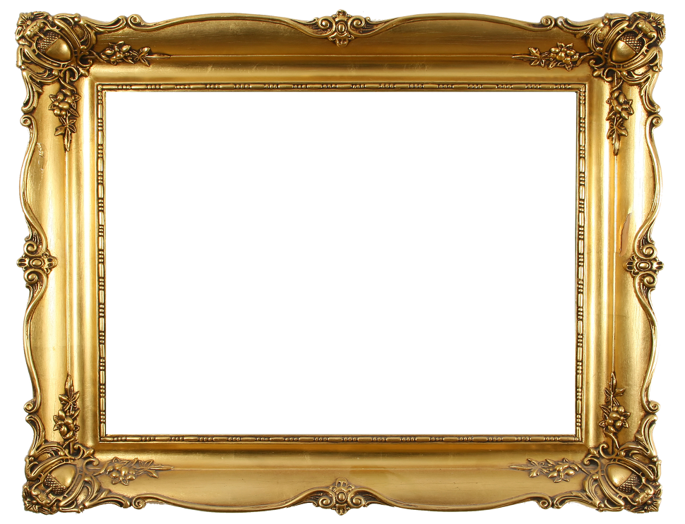 Old picture frames png. Stock photography royalty free