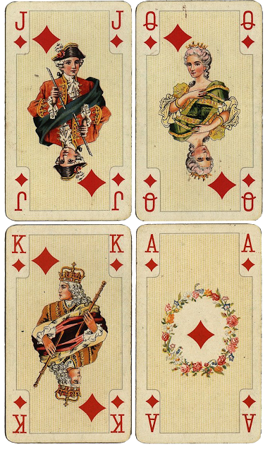 vintage playing cards png