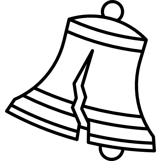 Vintage school bell png. Icon page svg