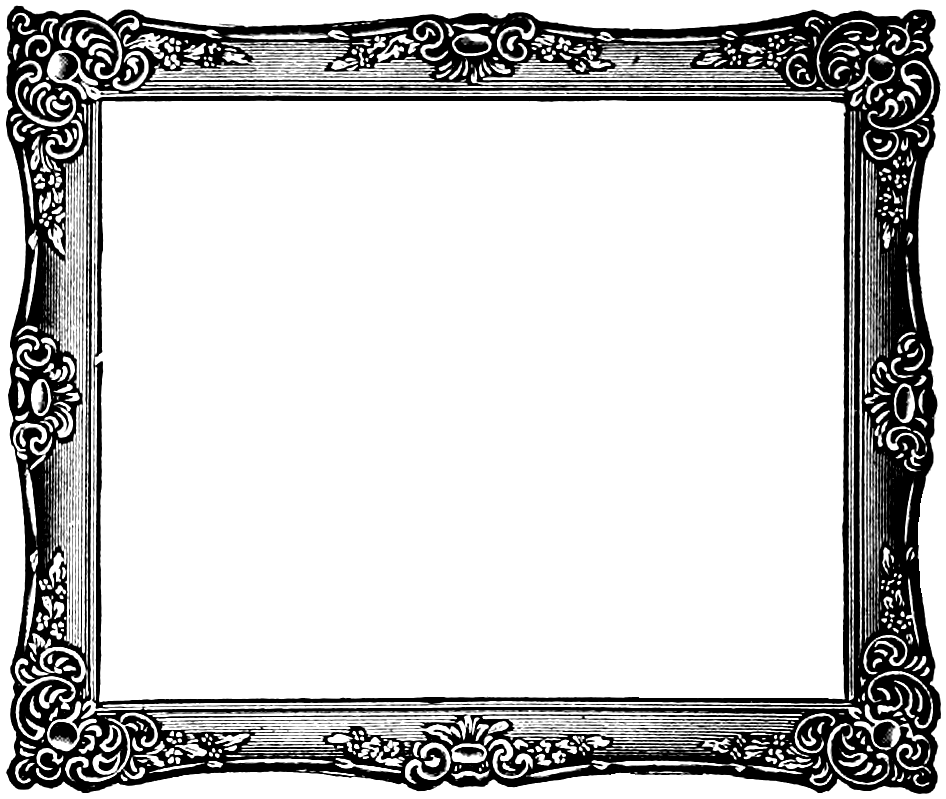 Vintage square frame png. Collection of clipart
