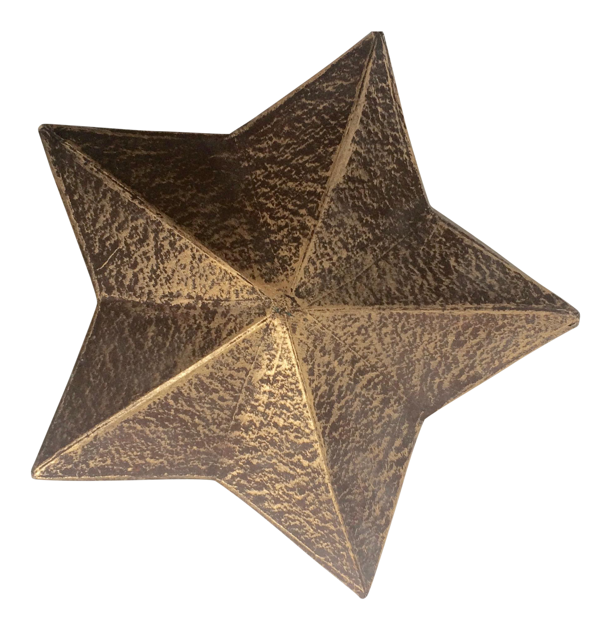 Vintage star png. Painted paper gold box
